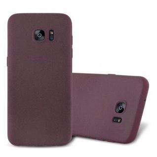 Cadorabo Hülle für Samsung Galaxy S7 EDGE in FROST BORDEAUX LILA - Handyhülle aus flexiblem TPU Silikon - Silikonhülle Schutzhülle Ultra Slim Soft Back Cover Case Bumper
