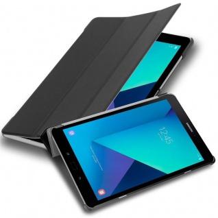 """Cadorabo Tablet Hülle für Samsung Galaxy Tab S3 (9, 7"""" Zoll) SM-T820N / T825N in SATIN SCHWARZ Ultra Dünne Book Style Schutzhülle mit Auto Wake Up und Standfunktion aus Kunstleder"""