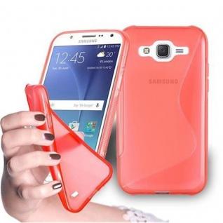 Cadorabo Hülle für Samsung Galaxy J7 2015 in INFERNO ROT - Handyhülle aus flexiblem TPU Silikon - Silikonhülle Schutzhülle Ultra Slim Soft Back Cover Case Bumper
