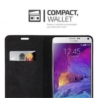 Cadorabo Hülle für Samsung Galaxy NOTE 4 in APFEL ROT - Handyhülle mit Magnetverschluss, Standfunktion und Kartenfach - Case Cover Schutzhülle Etui Tasche Book Klapp Style - Vorschau 2