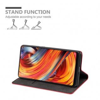 Cadorabo Hülle für Xiaomi Mi MIX 2 in APFEL ROT - Handyhülle mit Magnetverschluss, Standfunktion und Kartenfach - Case Cover Schutzhülle Etui Tasche Book Klapp Style - Vorschau 3