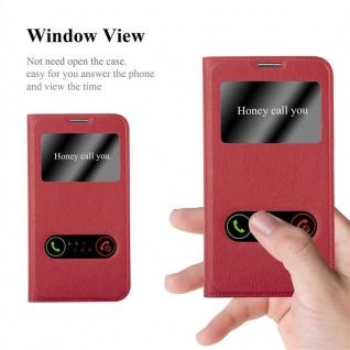 Cadorabo Hülle für Samsung Galaxy NOTE 3 NEO in SAFRAN ROT ? Handyhülle mit Magnetverschluss, Standfunktion und 2 Sichtfenstern ? Case Cover Schutzhülle Etui Tasche Book Klapp Style - Vorschau 2