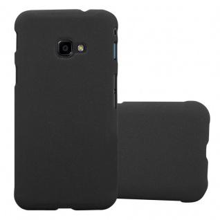 Cadorabo Hülle für Samsung Galaxy XCover 4 in FROSTY SCHWARZ - Hardcase Handyhülle aus Plastik gegen Kratzer und Stöße - Schutzhülle Bumper Ultra Slim Back Case Hard Cover