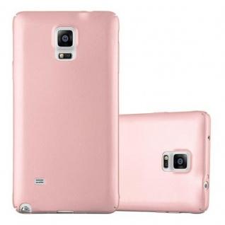 Cadorabo Hülle für Samsung Galaxy NOTE 4 in METALL ROSE GOLD - Hardcase Handyhülle aus Plastik gegen Kratzer und Stöße - Schutzhülle Bumper Ultra Slim Back Case Hard Cover