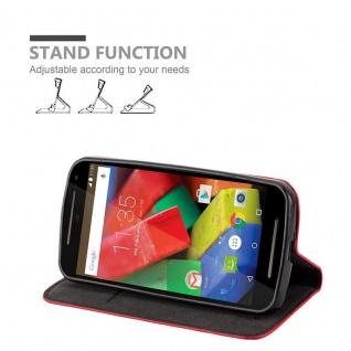 Cadorabo Hülle für Motorola MOTO G2 in APFEL ROT Handyhülle mit Magnetverschluss, Standfunktion und Kartenfach Case Cover Schutzhülle Etui Tasche Book Klapp Style - Vorschau 3