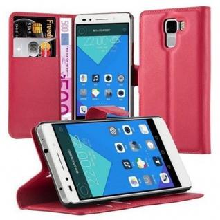 Cadorabo Hülle für Honor 7 in KARMIN ROT - Handyhülle mit Magnetverschluss, Standfunktion und Kartenfach - Case Cover Schutzhülle Etui Tasche Book Klapp Style
