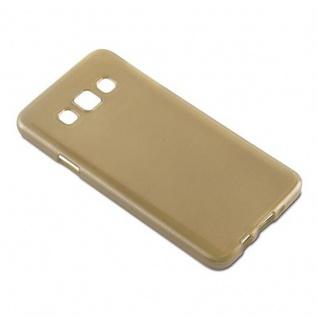 Cadorabo Hülle für Samsung Galaxy A3 2015 in GOLD - Handyhülle aus flexiblem TPU Silikon - Silikonhülle Schutzhülle Ultra Slim Soft Back Cover Case Bumper - Vorschau 4