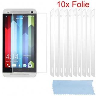 Cadorabo Displayschutzfolien für HTC ONE M7 (1.Gen.) - Schutzfolien in HIGH CLEAR ? 10 Stück hochtransparenter Schutzfolien gegen Staub, Schmutz und Kratzer