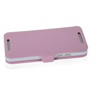 Cadorabo Hülle für HTC ONE MINI M4 (1.Gen.) - Hülle in ICY ROSE ? Handyhülle mit Standfunktion und Kartenfach im Ultra Slim Design - Case Cover Schutzhülle Etui Tasche Book - Vorschau 3