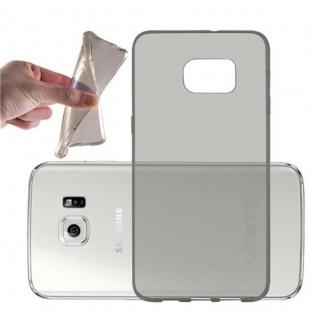 Cadorabo Hülle für Samsung Galaxy S6 EDGE PLUS - Hülle in TRANSPARENT SCHWARZ ? Handyhülle aus TPU Silikon im Ultra Slim 'AIR' Design - Ultra Slim Soft Backcover Case Bumper