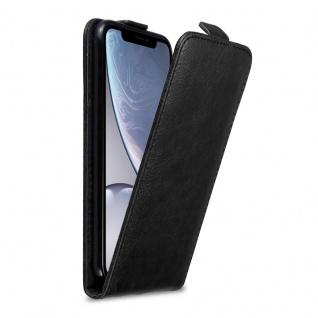 Cadorabo Hülle für Apple iPhone XR in NACHT SCHWARZ Handyhülle im Flip Design mit Magnetverschluss Case Cover Schutzhülle Etui Tasche Book Klapp Style