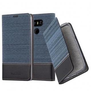 Cadorabo Hülle für LG G6 in DUNKEL BLAU SCHWARZ - Handyhülle mit Magnetverschluss, Standfunktion und Kartenfach - Case Cover Schutzhülle Etui Tasche Book Klapp Style