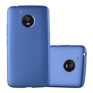 Cadorabo Hülle für Motorola MOTO G5 in METALLIC BLAU - Handyhülle aus flexiblem TPU Silikon - Silikonhülle Schutzhülle Ultra Slim Soft Back Cover Case Bumper