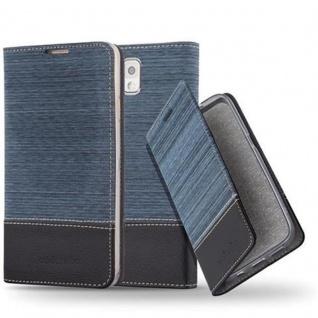 Cadorabo Hülle für Samsung Galaxy NOTE 3 in DUNKEL BLAU SCHWARZ - Handyhülle mit Magnetverschluss, Standfunktion und Kartenfach - Case Cover Schutzhülle Etui Tasche Book Klapp Style