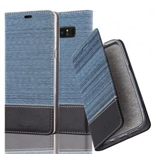 Cadorabo Hülle für Samsung Galaxy NOTE 8 in DUNKEL BLAU SCHWARZ Handyhülle mit Magnetverschluss, Standfunktion und Kartenfach Case Cover Schutzhülle Etui Tasche Book Klapp Style