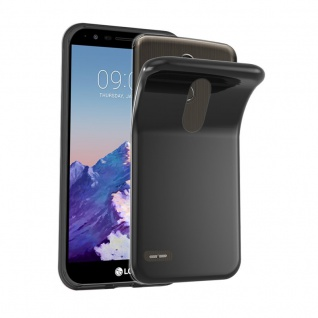 Cadorabo Hülle für LG STYLUS 3 in SCHWARZ - Handyhülle aus flexiblem TPU Silikon - Silikonhülle Schutzhülle Ultra Slim Soft Back Cover Case Bumper