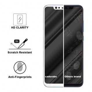 Cadorabo Vollbild Panzer Folie für Xiaomi Mi 8 - Schutzfolie in TRANSPARENT mit WEISS - Gehärtetes (Tempered) Display-Schutzglas in 9H Härte mit 3D Touch Kompatibilität - Vorschau 3