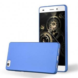 Cadorabo Hülle für Huawei P8 LITE 2015 in METALLIC BLAU - Handyhülle aus flexiblem TPU Silikon - Silikonhülle Schutzhülle Ultra Slim Soft Back Cover Case Bumper