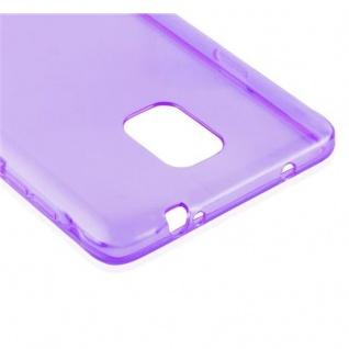 Cadorabo Hülle für Samsung Galaxy NOTE 4 in TRANSPARENT LILA - Handyhülle aus flexiblem TPU Silikon - Silikonhülle Schutzhülle Ultra Slim Soft Back Cover Case Bumper - Vorschau 4