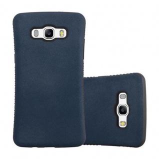 Cadorabo Hülle für Samsung Galaxy J5 2016 (6) - Hülle in MEERES BLAU - Small Waist Handyhülle mit rutschfestem Gummi-Rücken - Hard Case TPU Silikon Schutzhülle