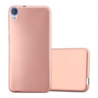 Cadorabo Hülle für HTC DESIRE 820 in METALLIC ROSE GOLD - Handyhülle aus flexiblem TPU Silikon - Silikonhülle Schutzhülle Ultra Slim Soft Back Cover Case Bumper
