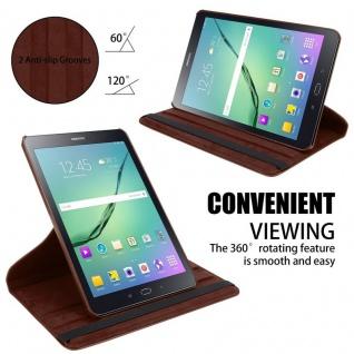 """"""" Cadorabo Tablet Hülle für Samsung Galaxy Tab S2 (8, 0"""" Zoll) SM-T715N / T719N in PILZ BRAUN ? Book Style Schutzhülle OHNE Auto Wake Up mit Standfunktion und Gummiband Verschluss"""" - Vorschau 4"""