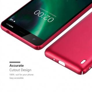 Cadorabo Hülle für Nokia 2 2017 in METALL ROT ? Hardcase Handyhülle aus Plastik gegen Kratzer und Stöße ? Schutzhülle Bumper Ultra Slim Back Case Hard Cover - Vorschau 5