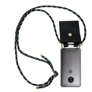 Cadorabo Handy Kette für Motorola MOTO G5 in CAMOUFLAGE Silikon Necklace Umhänge Hülle mit Gold Ringen, Kordel Band Schnur und abnehmbarem Etui Schutzhülle