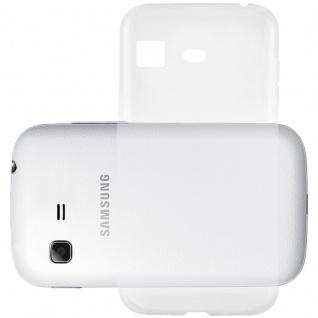 Cadorabo Hülle für Samsung Galaxy POCKET in VOLL TRANSPARENT - Handyhülle aus flexiblem TPU Silikon - Silikonhülle Schutzhülle Ultra Slim Soft Back Cover Case Bumper