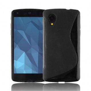 Cadorabo ! PREMIUM - Silikon TPU Schutzhülle im S-Line Design für LG NEXUS 5 in OXID-SCHWARZ
