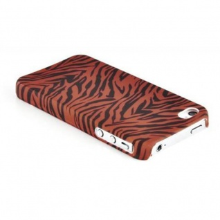 Cadorabo - Hard Cover für Apple iPhone 4 / iPhone 4S - Case Cover Schutzhülle Bumper im Design: BROWN TIGER