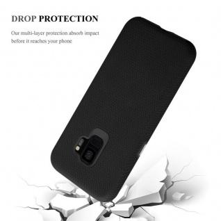 Cadorabo Hülle für Samsung Galaxy S9 in DAHLIEN SCHWARZ ? Outdoor Handyhülle mit extra Grip Anti Rutsch Oberfläche im Triangle Design aus Silikon und Kunststoff - Schutzhülle Hybrid Hardcase Back Case - Vorschau 5