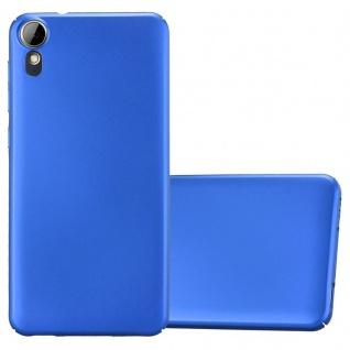 Cadorabo Hülle für HTC Desire 10 Lifestyle / Desire 825 in METALL BLAU - Hardcase Handyhülle aus Plastik gegen Kratzer und Stöße - Schutzhülle Bumper Ultra Slim Back Case Hard Cover