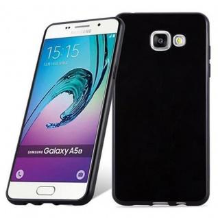 Cadorabo Hülle für Samsung Galaxy A5 2016 in SCHWARZ - Handyhülle aus flexiblem TPU Silikon - Silikonhülle Schutzhülle Ultra Slim Soft Back Cover Case Bumper - Vorschau 1