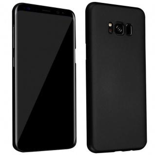 Cadorabo Hülle für Samsung Galaxy S8 in METALL SCHWARZ - Hardcase Handyhülle aus Plastik gegen Kratzer und Stöße - Schutzhülle Bumper Ultra Slim Back Case Hard Cover