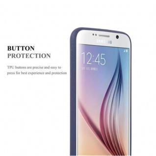 Cadorabo Hülle für Samsung Galaxy S6 in FROST DUNKEL BLAU - Handyhülle aus flexiblem TPU Silikon - Silikonhülle Schutzhülle Ultra Slim Soft Back Cover Case Bumper - Vorschau 3