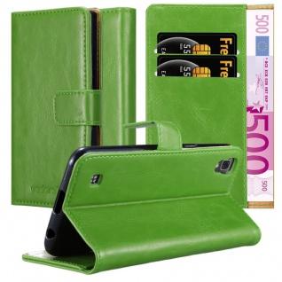 Cadorabo Hülle für LG X Power in GRAS GRÜN - Handyhülle mit Magnetverschluss, Standfunktion und Kartenfach - Case Cover Schutzhülle Etui Tasche Book Klapp Style
