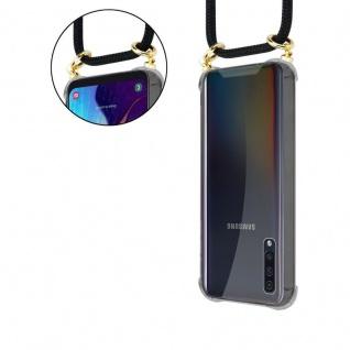 Cadorabo Handy Kette für Samsung Galaxy A50 in SCHWARZ - Silikon Necklace Umhänge Hülle mit Gold Ringen, Kordel Band Schnur und abnehmbarem Etui ? Schutzhülle - Vorschau 5