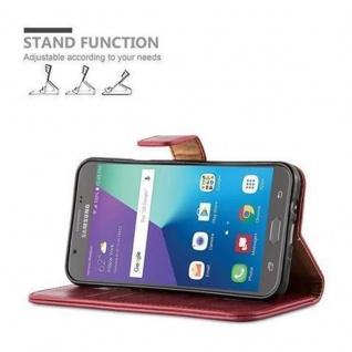 Cadorabo Hülle für Samsung Galaxy J5 2017 US Version in WEIN ROT ? Handyhülle mit Magnetverschluss, Standfunktion und Kartenfach ? Case Cover Schutzhülle Etui Tasche Book Klapp Style - Vorschau 5