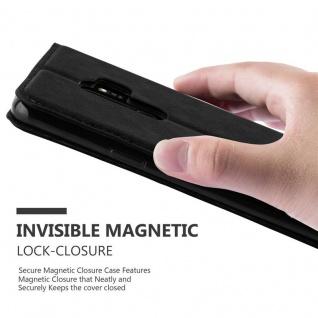 Cadorabo Hülle für Samsung Galaxy S9 PLUS in NACHT SCHWARZ - Handyhülle mit Magnetverschluss, Standfunktion und Kartenfach - Case Cover Schutzhülle Etui Tasche Book Klapp Style - Vorschau 5