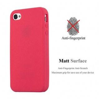 Cadorabo Hülle für Apple iPhone 4 / iPhone 4S in FROSTY ROT - Hardcase Handyhülle aus Plastik gegen Kratzer und Stöße - Schutzhülle Bumper Ultra Slim Back Case Hard Cover - Vorschau 2