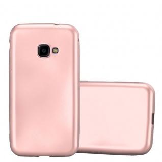 Cadorabo Hülle für Samsung Galaxy Xcover 4 in METALLIC ROSE GOLD - Handyhülle aus flexiblem TPU Silikon - Silikonhülle Schutzhülle Ultra Slim Soft Back Cover Case Bumper