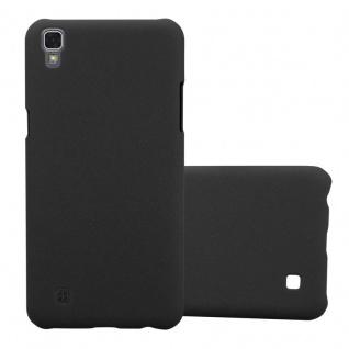 Cadorabo Hülle für LG X Power in FROSTY SCHWARZ - Hardcase Handyhülle aus Plastik gegen Kratzer und Stöße - Schutzhülle Bumper Ultra Slim Back Case Hard Cover