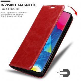 Cadorabo Hülle für Samsung Galaxy M10 in APFEL ROT Handyhülle mit Magnetverschluss, Standfunktion und Kartenfach Case Cover Schutzhülle Etui Tasche Book Klapp Style - Vorschau 2