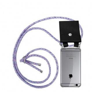 Cadorabo Handy Kette für Apple iPhone 6 PLUS / iPhone 6S PLUS in UNICORN Silikon Necklace Umhänge Hülle mit Silber Ringen, Kordel Band Schnur und abnehmbarem Etui Schutzhülle
