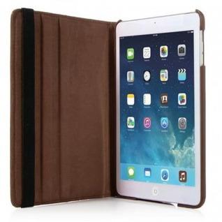Cadorabo - Apple iPad AIR (5. Generation) Schutzhülle im Book Style mit 360° Standfunktion - Case Cover Bumper in NUSS BRAUN