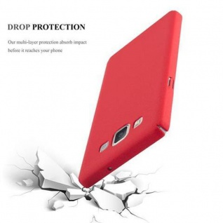Cadorabo Hülle für Samsung Galaxy A5 2015 in FROSTY ROT - Hardcase Handyhülle aus Plastik gegen Kratzer und Stöße - Schutzhülle Bumper Ultra Slim Back Case Hard Cover - Vorschau 3