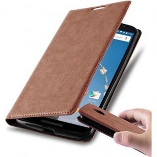 Cadorabo Hülle für Lenovo Google NEXUS 6 / 6X in CAPPUCCINO BRAUN - Handyhülle mit Magnetverschluss, Standfunktion und Kartenfach - Case Cover Schutzhülle Etui Tasche Book Klapp Style - Vorschau 1