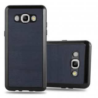 Cadorabo Hülle für Samsung Galaxy J1 2016 in WOODEN BLAU ? Handyhülle aus flexiblem TPU Silikon ? Silikonhülle Schutzhülle Ultra Slim Soft Back Cover Case Bumper