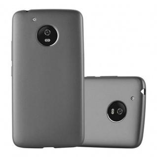 Cadorabo Hülle für Motorola MOTO G5 in METALLIC GRAU - Handyhülle aus flexiblem TPU Silikon - Silikonhülle Schutzhülle Ultra Slim Soft Back Cover Case Bumper